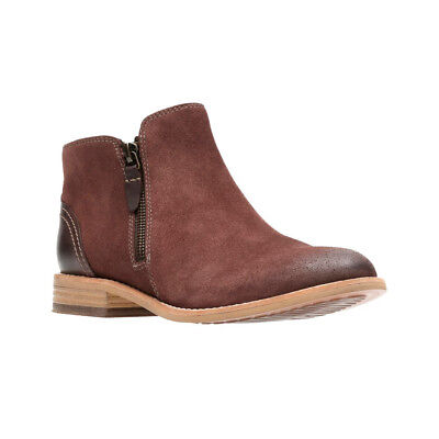 New Clarks Women's Maypearl Juno Boot Mahogany Suede/Leather 7