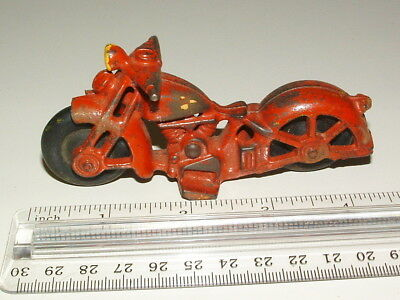 1940s50s CAST-IRON 4 1/2 IN LONG HARLEY-DAVIDSON  MOTORCYCLE