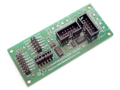 Quadrature Encoder Counter - 32 bit - SPI Interface for Raspberry PI and Arduino