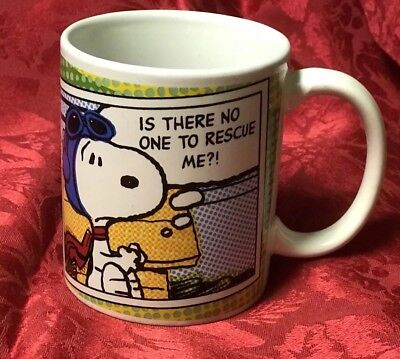 Peanuts Snoopy Gibson Coffee Cup Mug Is there no one to rescue me?!