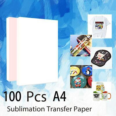 100pcs Sheets A4 Dye Sublimation Heat Transfer Paper For T-shirt DIY Cup Print