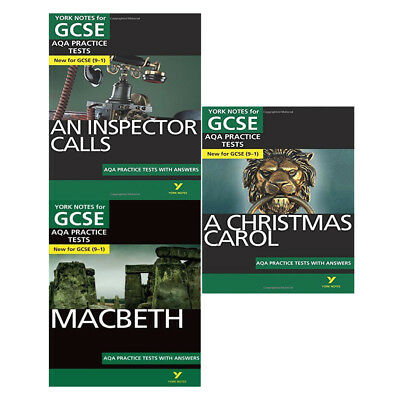 An inspector calls Macbeth christmas AQA Practice Tests 3 Books Collection Set