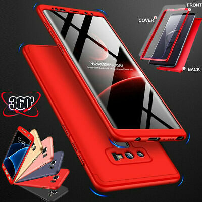 Hybrid 360° Hard Case + Screen Protector Full Cover For Samsung Galaxy Models