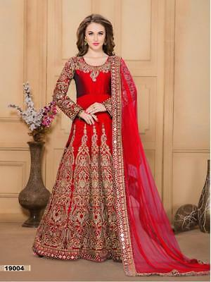Indian anarkali salwar kameez suit designer pakistani bollywood ethnic wedding b