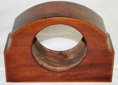 Antique Solid Mahogany Clock Case for Parts or Restoration