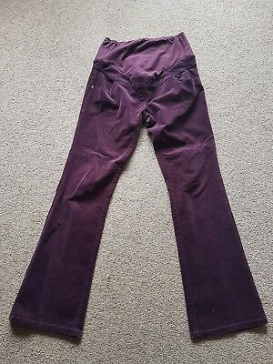 Next Maternity Plum/burgundy Over The Bump Trousers Size 12L