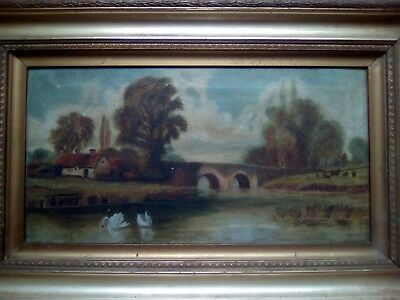 Expert help required for filthy country landscape, mid 19th ANTIQUE OIL PAINTING