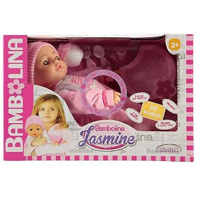 Dimian Bambolina Interactive Doll With 50 Words And Accessories. Brand New