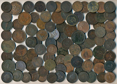93 Old Canada Tokens & Coins (Numerous Collectibles >>> Must See)  No Reserve