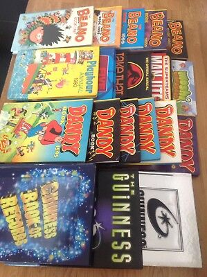 Bundle Of Annuals Beano Dandy Guiness Book Of Records