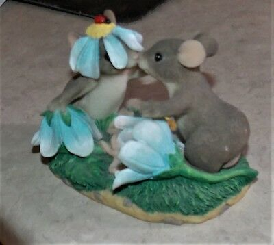 Adorable Mouse Couple Fitz & Floyd Charming Tails Our Love Has Blossomed 84/103