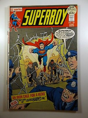 """Superboy #187 """"An Iron Cage For A Hero!"""" Gorgeous VF Condition!!"""