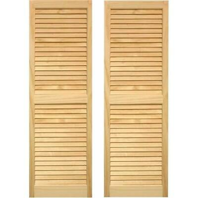 Pinecroft SHL51 Exterior Louvered Shutters 15 x 51 in.