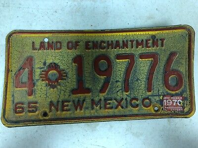 1965 (1970 Tag) NEW MEXICO Chaves County License Plate 4-19776