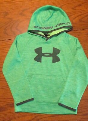 Under Armour Boys Hooded Sweatshirt Hoodie Youth SIZE 7 Loose Fit