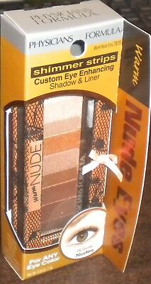 NEW PHYSICIANS FORMULA Shimmer Strips Shadow Liner Warm Nude Eyes 7870