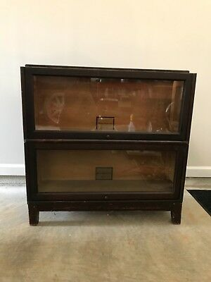 Melton-Rhodes antique barristers bookcase two stacks