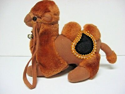 Bactrian camel stuff animal bell harness saddle two humps CLEAN