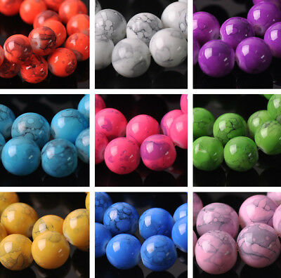 Coated Color Smooth Round Glass DIY Findings Loose Spacer Beads 6mm 8mm 10mm NEW