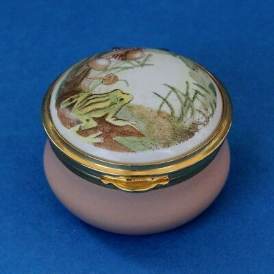 Staffordshire Enamels Pill Trinket Box Frog Toad A Nicola Bayley Drawing