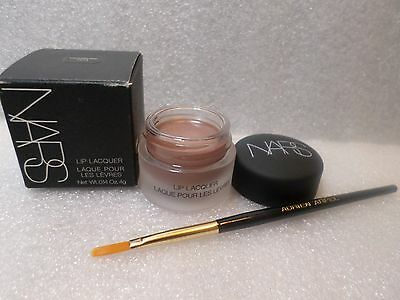 Nars Lip Lacquer Vagabond (Bronzey Beige) Full Sz Lip Gloss + Brush New In Box