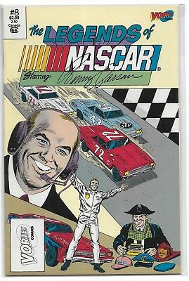 3 Legends Of Nascar Comic Books By Vortex # 4, # 5 & # 8 As A Lot