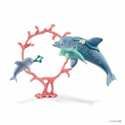 Dolphin mom with babies by Schleich 41463 Stunning Bayala beautiful<><