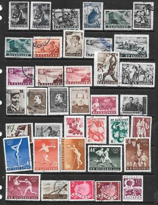 BULGARIA - 38 x Mainly Used Stamps - 1940s/50s Period.