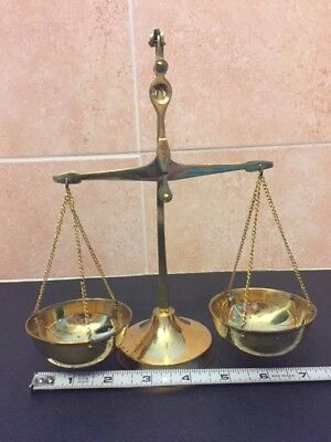 New, Vintage, Brass weighing Scale, gold color, light weight