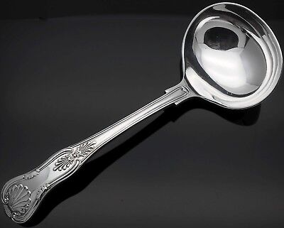 Kings Pattern Sauce Ladle - Silver Plated - Antique