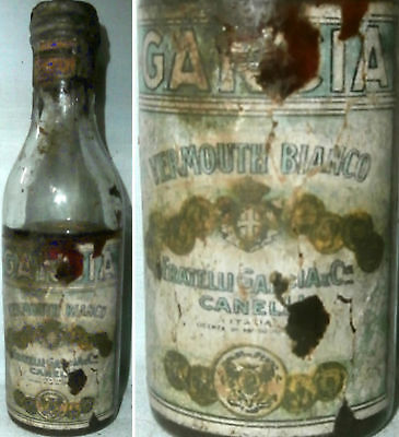 Old Vermouth Gancia Minibottle From Italy