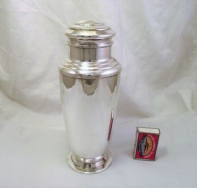 Large Art Deco Silver Plated Cocktail Shaker