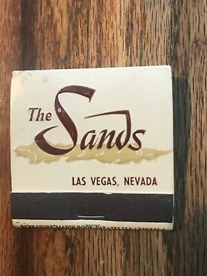 Sands Hotel Casino A Place In The Sun Front Striker Penquin Theme Matchbook 1960