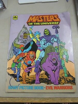 Masters Of The Universe Giant Picture Book Evil Warriors Fine- 1984 Golden