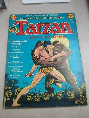 Dc Limited Collectors Edition #c-22 Very Good Tarzan Of The Apes 1973
