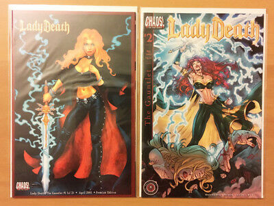 CHAOS LADY DEATH The Gauntlet comic lot 1 2 COMPLETE SERIES #1 ltd 2000 variant