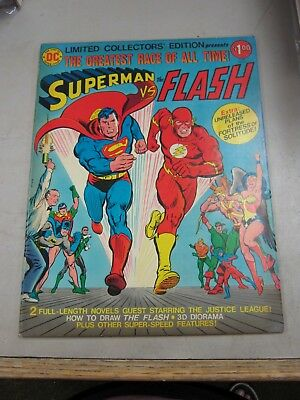 DC LIMITED COLLECTORS EDITION #C-48 VERY GOOD SUPERMAN vs FLASH RACE 1976