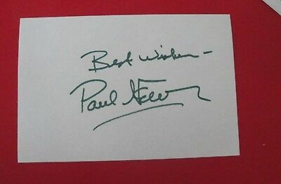 PAUL NEWMAN SIGNED 4x6 AUTOGRAPH INDEX CARD (1925-2008)
