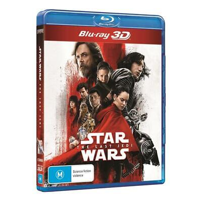 STAR WARS 8 (2017) - VIII THE LAST JEDI - Au RegB 3D + 2D BLU-RAY + BONUS DISC