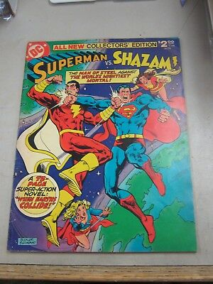 DC LIMITED COLLECTORS EDITION #C-58 VERY GOOD SUPERMAN vs SHAZAM 1978