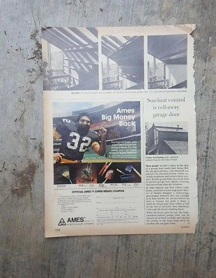 1981 print ad-Ames Garden Products $1 Super Rebate Coupon-Framco Harris-football