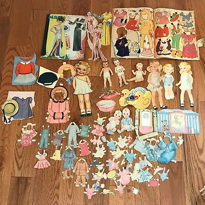 Huge Lot of Adorable Vintage Paper Dolls Baby Movie Star Snow White