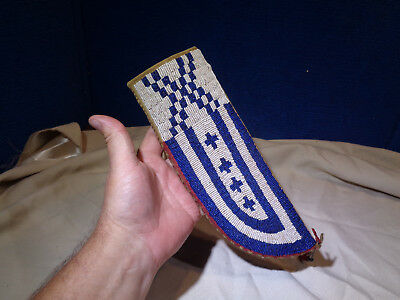 Old Native American Beaded Knife Sheath