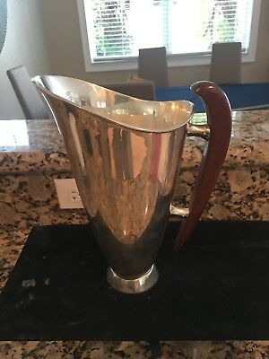 Rare Sanborn Mexican Sterling Mid Century Water Pitcher