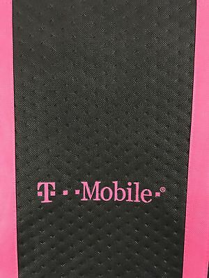 T-Mobile Promotional Black With Logo Tote Bag Zipper Closure