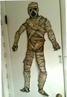 "Nip 1 Vintage Style Beistle-Halloween-Jointed Mummy-41""-Tall-Diecut-Get-1-Today!"