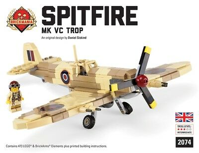 BRICKMANIA CUSTOM LEGO Kit Spitfire Mk Vc Trop Fighter