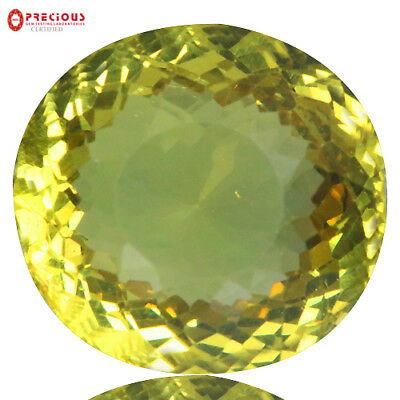 9.43 Ct Pgtl Certified ! Eye Clean Top Luster 100% Natural Canary Yellow Apatite