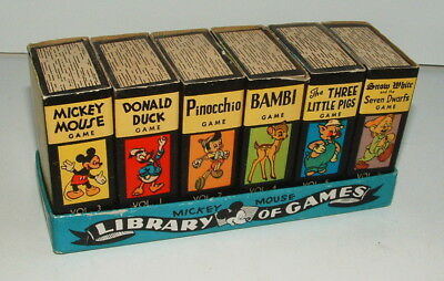 1940s WALT DISNEY GAME LIBRARY SET BEAUTIFUL CONDITION COMPLETE