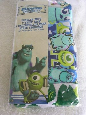 "L@@k  ""MONSTERS UNIVERSITY""   BOYS  UNDERPANTS/BRIEFS  SIZE  2T/3T  NWT"